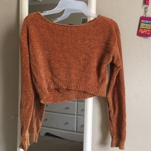 Golden yellow cropped sweater